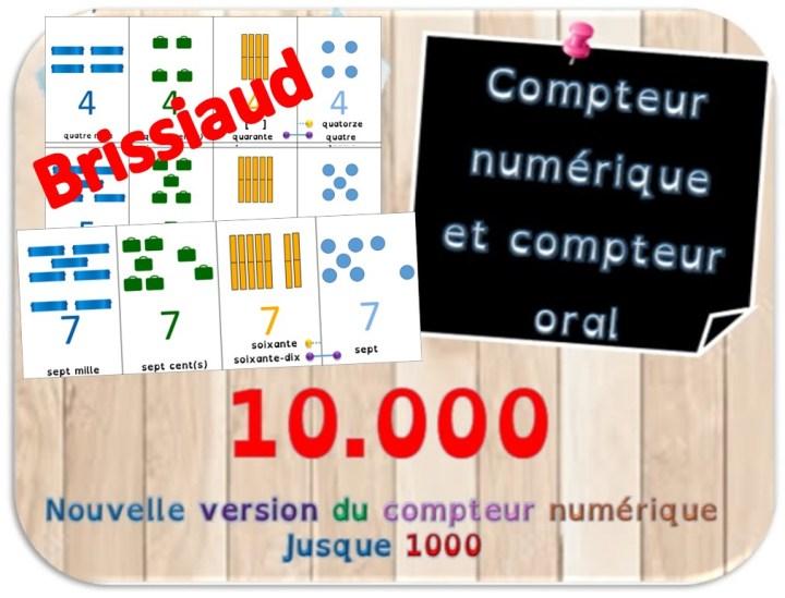 compteur numérique carnet oral des nombres jusque 1000 Brissiaud