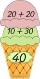 Ateliers Faire des glaces Additions de dizaine