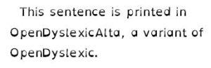Example of OpenDyslexicAlta