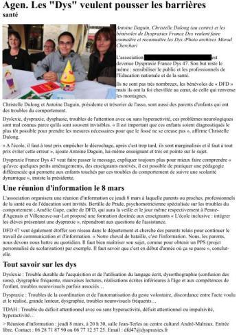 Article Dépêche du Midi 7-03-12