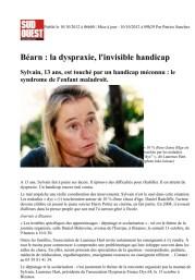 Article SudOuest 10/10/2012 (partie 1)