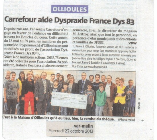Article Var Matin 23-10-2013