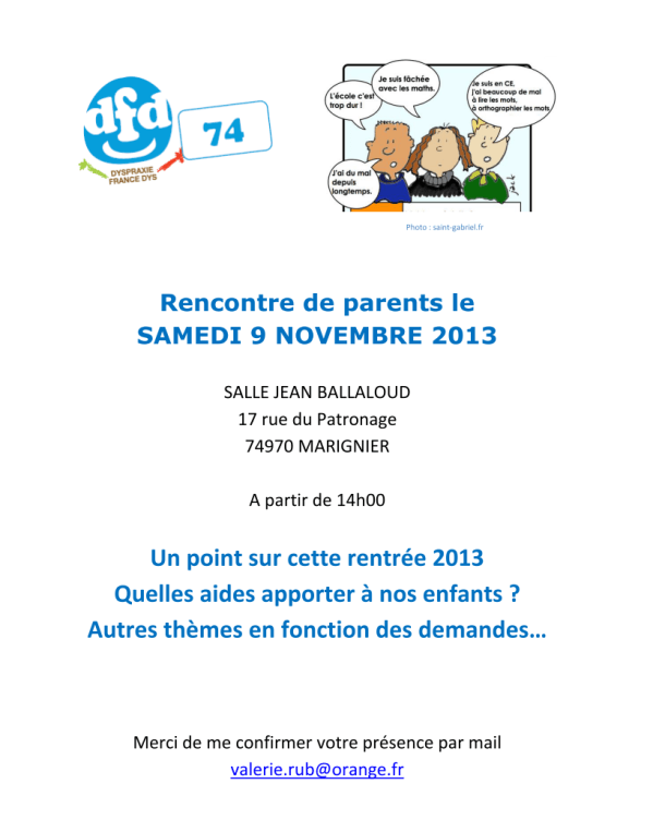 Rencontre de parents