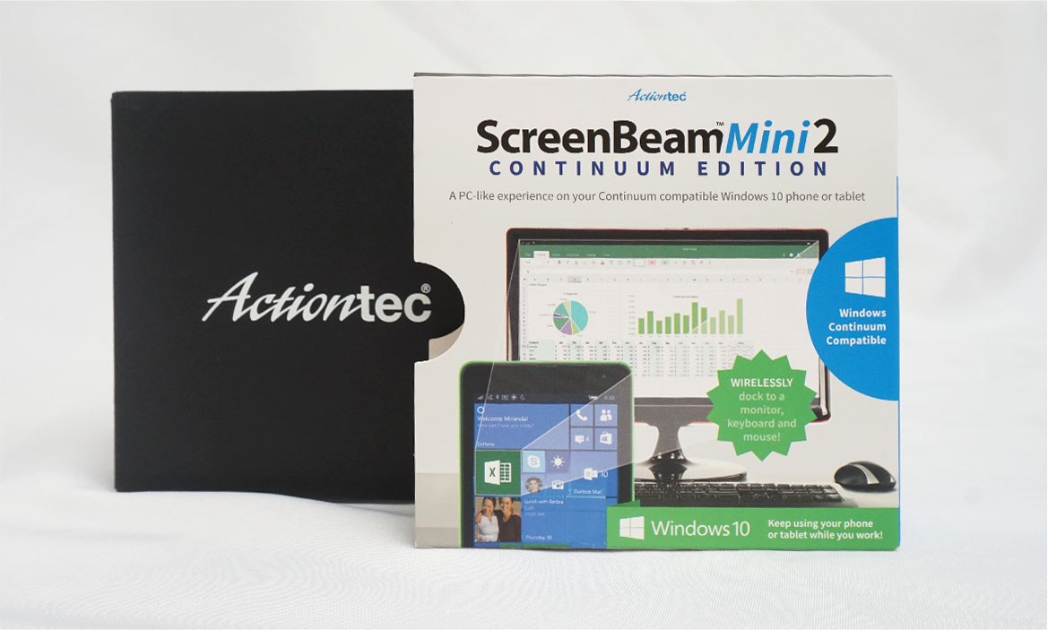 actiontec/ screenbeam packaging design