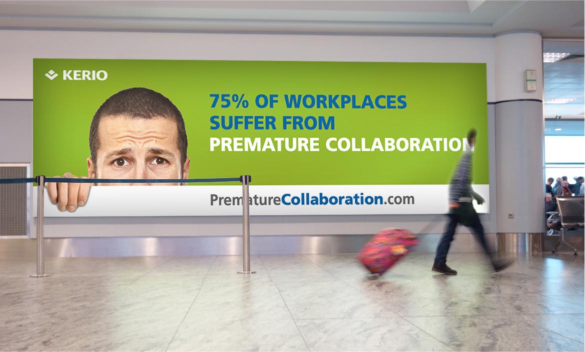 premature collaboration airport wall ad