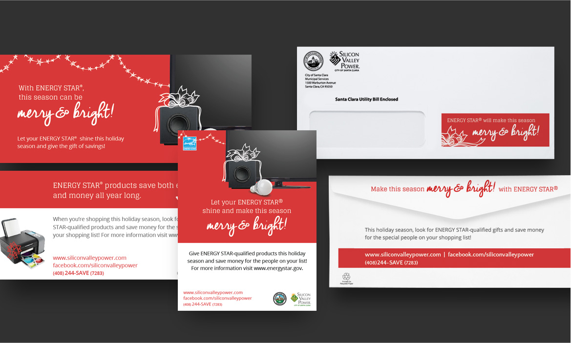 red svp mail and email design