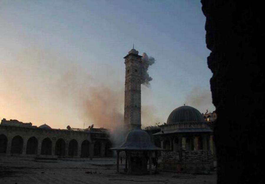 Meczet Umajjadów w Aleppo /2013 r. (źródło: http://www.urbanews.fr)