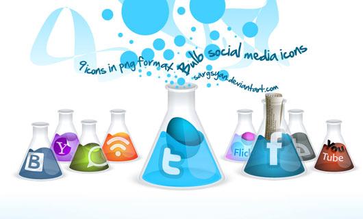 Bulb-Social-Media-Icons