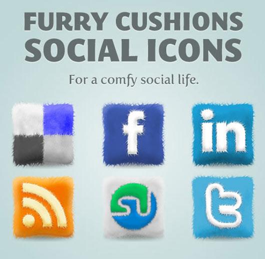 Free-Furry-Cushions-Social-Icons-Set