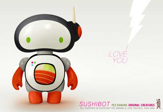SUSHIBOT new designer toy