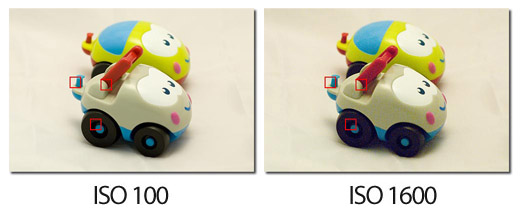 ISO 100 Vs ISO 1600