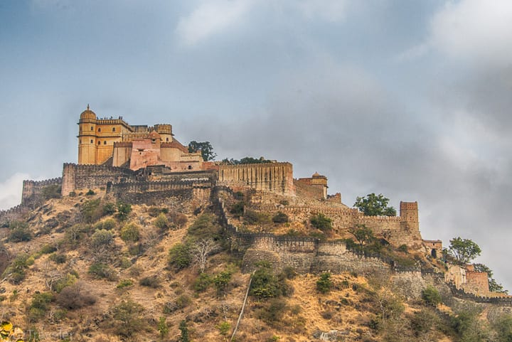 The Fort on the top of the hill - not an easy task to climb up