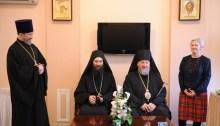 igumen monasteru Chiliandar na św. górze Athos - o. Metodije podczas wizyty w Moskwie