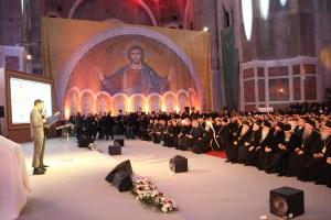 Uroczysta prezentacja mozaiki wcerkwi św.Sawy wBelgradzie