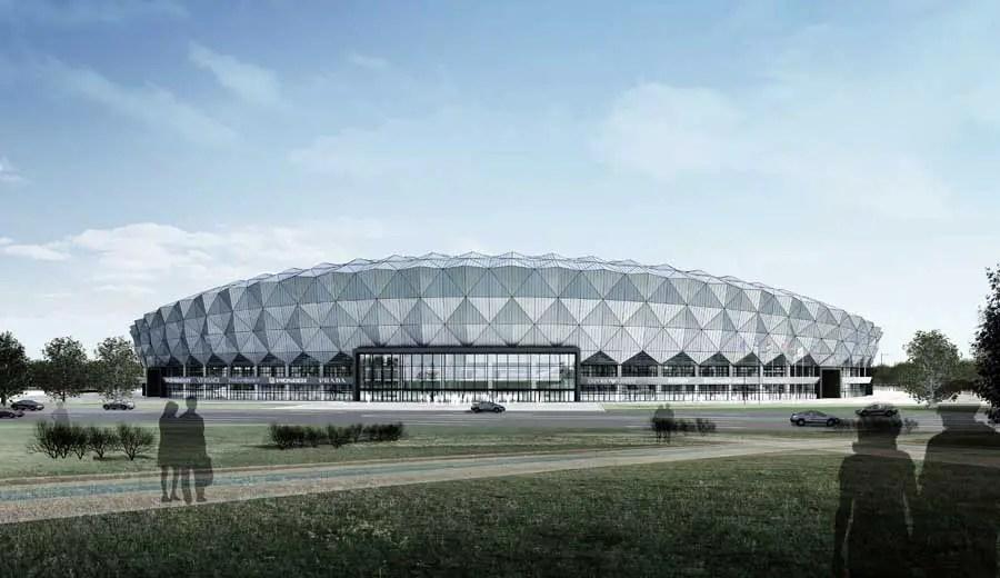 Jining Stadium Building China Chinese Sports Arena E Architect