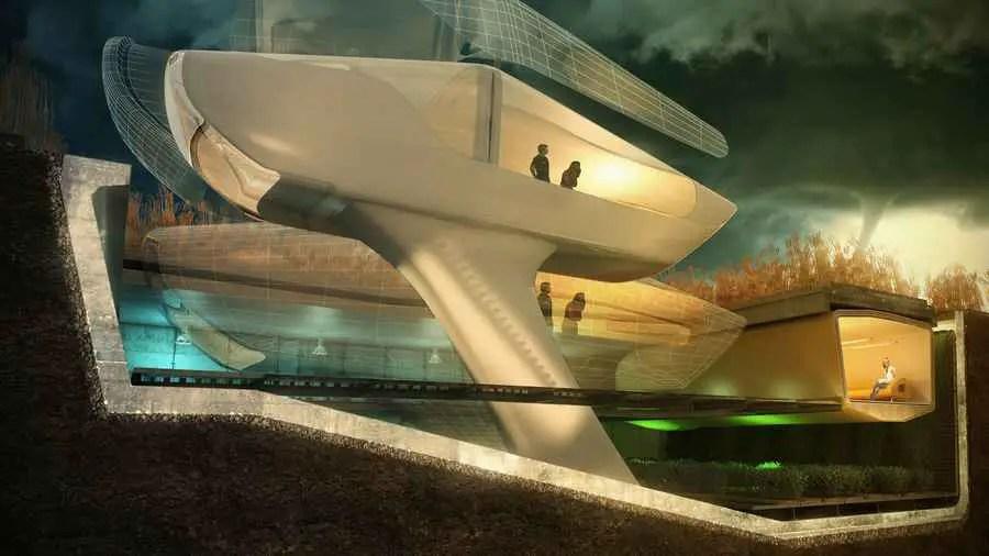 Tornado House 1o Design Tornado Proof House E Architect