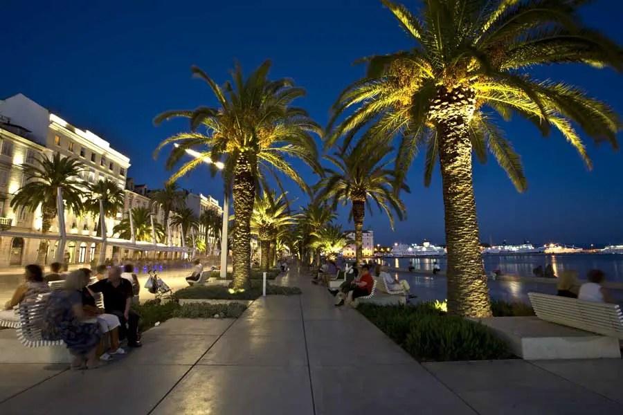 Riva Split Waterfront Croatia Landscape Architecture E