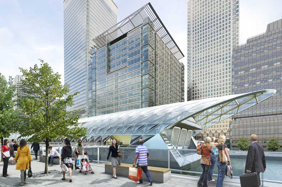 Crossrail Station Buildings London Underground Stations