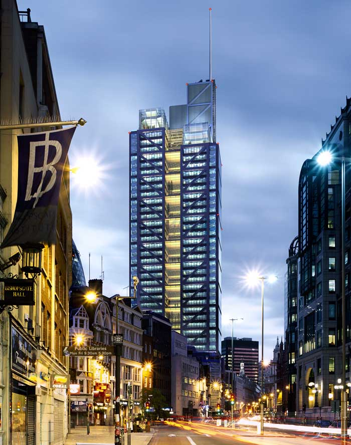 Heron Tower London Skyscraper Building E Architect
