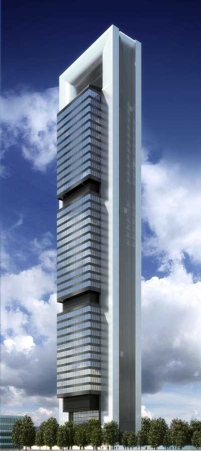 Torre Caja Madrid Tower Building Foster Partners E