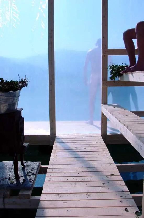 Floating Sauna Norway Hardangerfjord Building E Architect