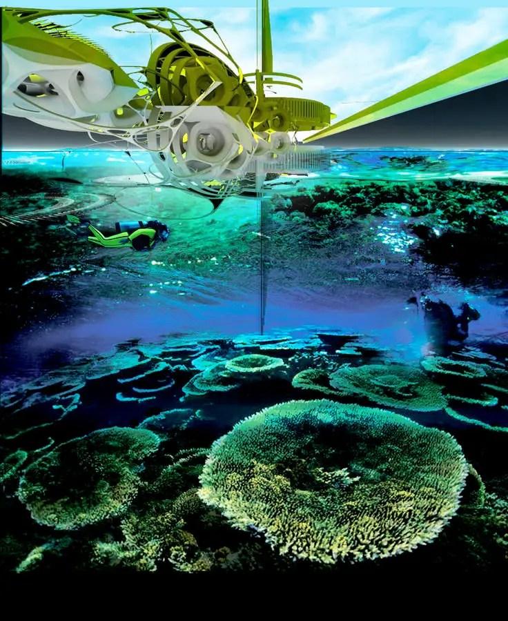 Electric Coral Reef Station Concept Design E Architect