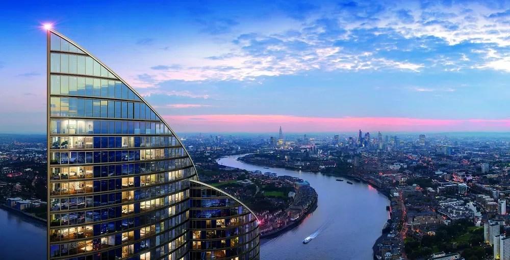 Spire London Docklands Skyscraper E Architect