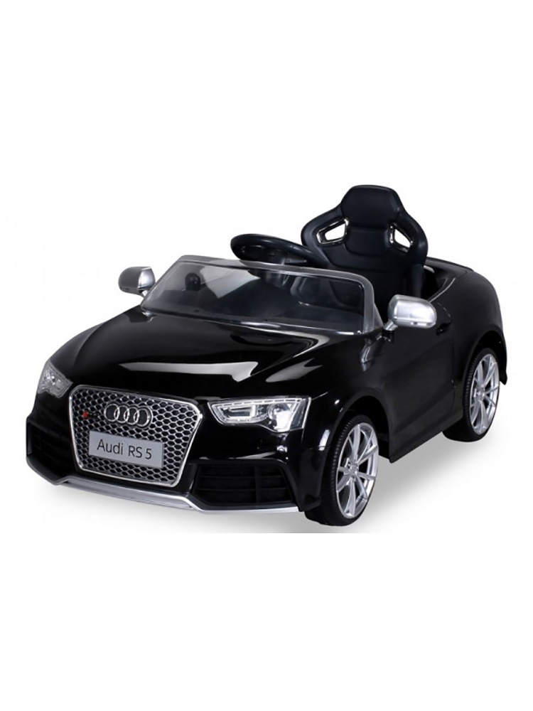 voiture lectrique 12v style audi rs5 noire. Black Bedroom Furniture Sets. Home Design Ideas