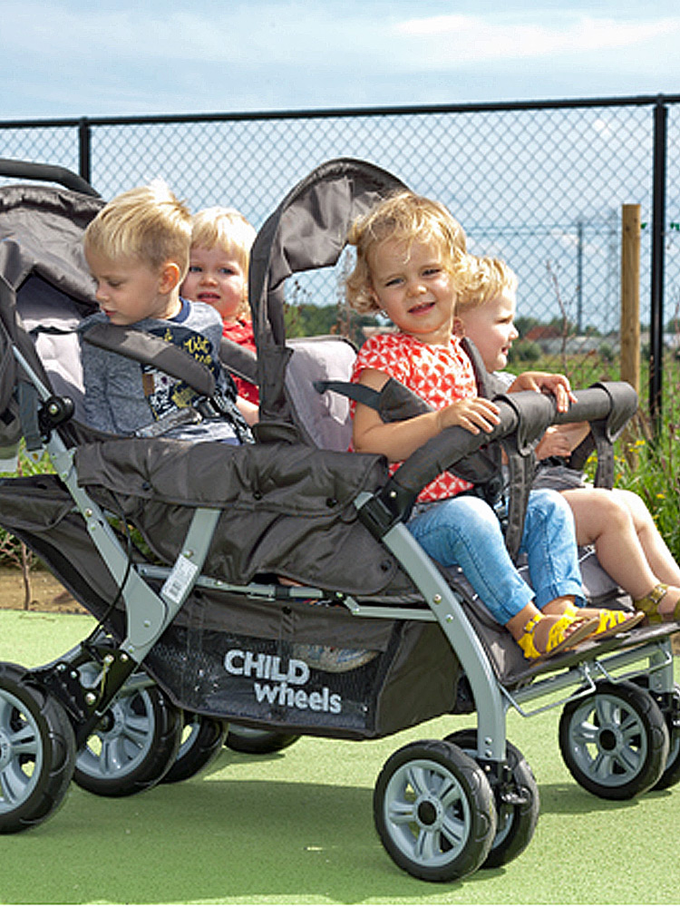 poussette Multiplaces Child wheels 4 places