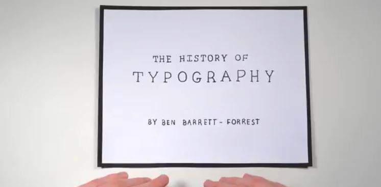 Historia de la tipografía en 5 minutos