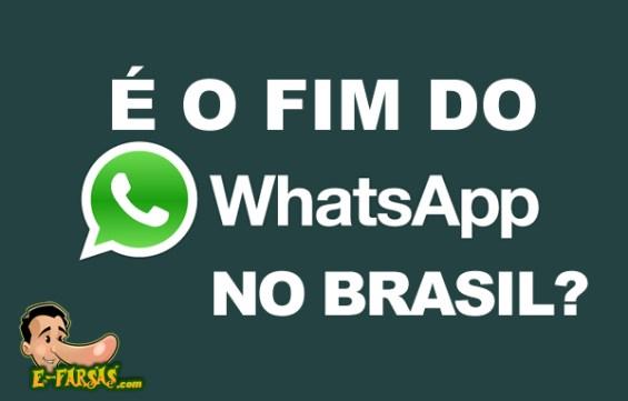 Texto afirma que o WhatsApp deixará o Brasil em 2017! Será?