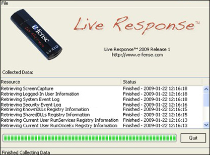 live response screenshot