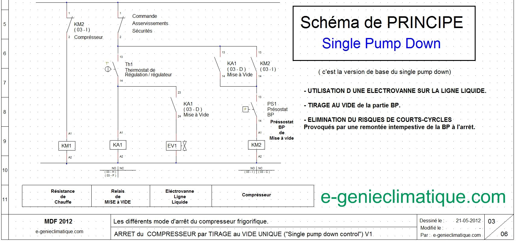 Froid13 Schma Lectrique Arrt Compresseur Single Pump