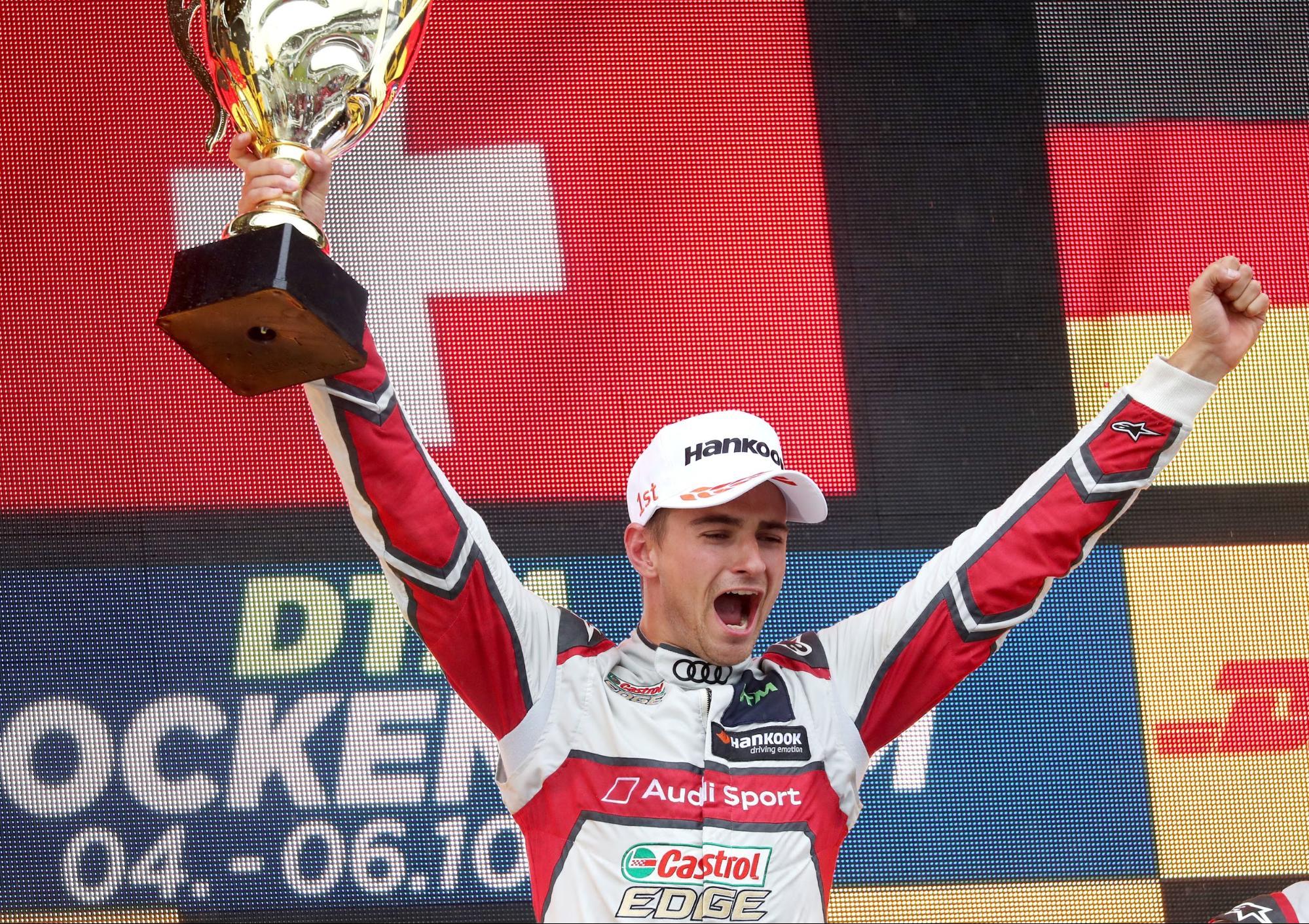 L'avversario è il vicecampione del mondo DTM: Nico Müller il 6 ottobre a Hockenheim (D). (AUDI)