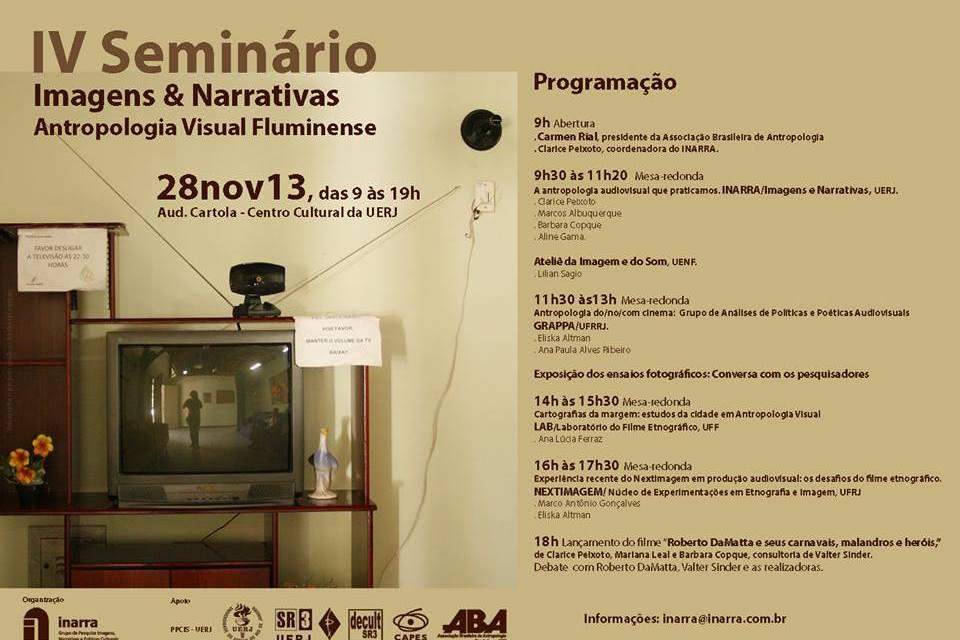 IV Seminário Imagens & Narrativas – Antropologia Visual Fluminense