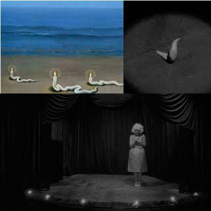 Rene Magritte (detalle) y Eraserhead (1976)