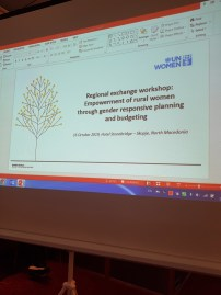 "Regionalna konferencija ""Empowerment of rural women through gender responsive planning and budgeting"", Skoplje, 16. oktobar 2019."