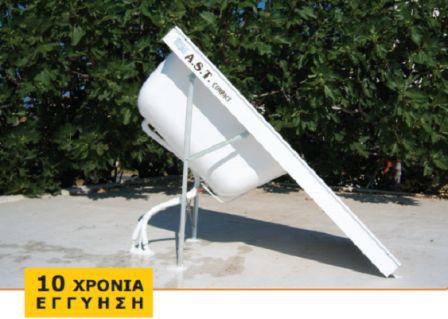 Ηλιακός θερμοσίφωνας 100lt A.S.T Compact