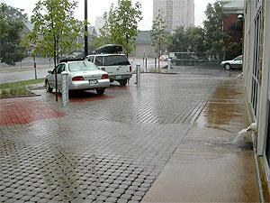 pervious paver parking lot