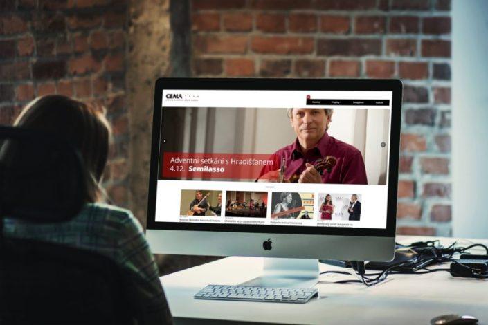 Web pro agenturu pořádající kulturní akce | www.cema-music.com