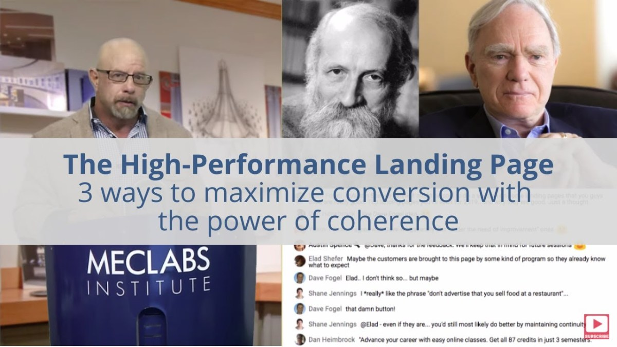 The High-Performance Landing Page: 3 ways to maximize conversion with the power of coherence