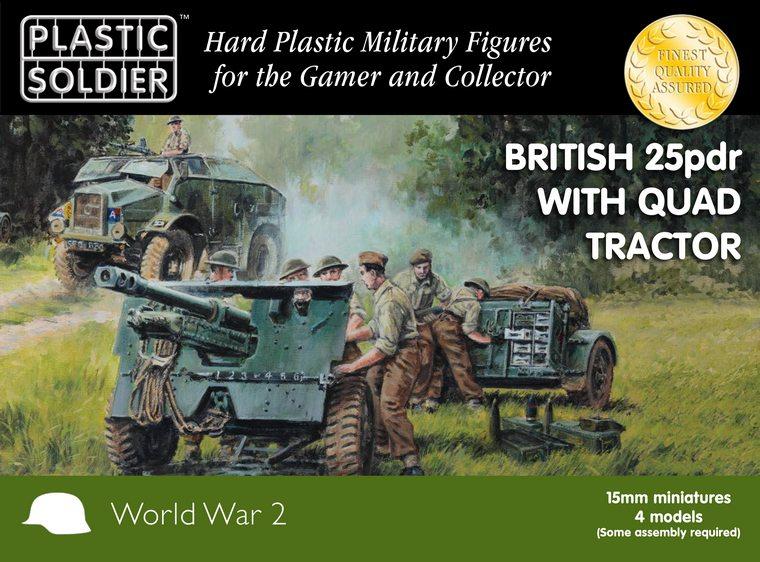 15mm Británico 25 pdr y el tractor quad Morris