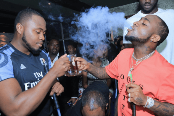 Davido and his gang on smoking spree  e-NIGERIA!