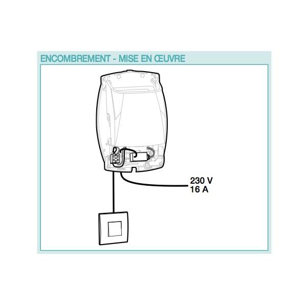 Interface 9 V Dc 230v Ac Pour Bouche Bap Si Ou Curve Cuisine Wc A Pile