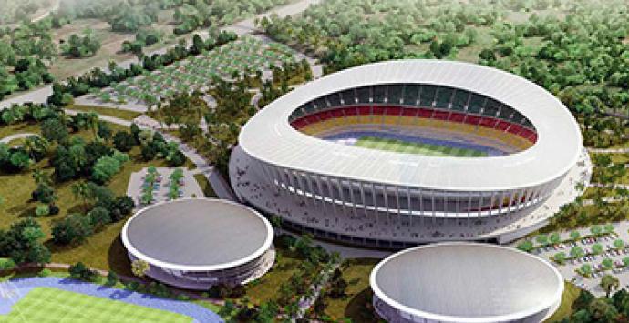 ملعب جاموبا الذي سيحتضن مباريات المنتخب الوطني 2022 Japoma Stadium