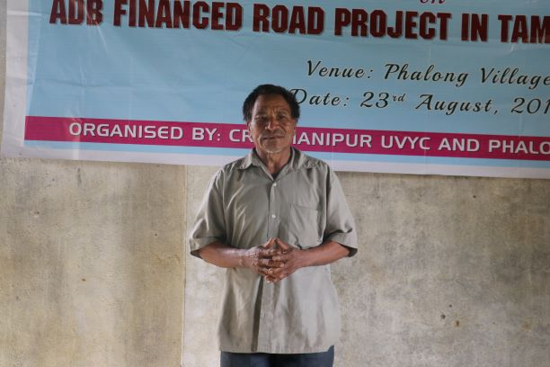 a bhalok elder sharing concerns with the massive impacts of the ADB road prjoect in Bhalok village  on 23 August 2019