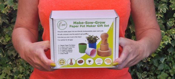 Make Sow Grow - Paper Pot Maker Gift Set