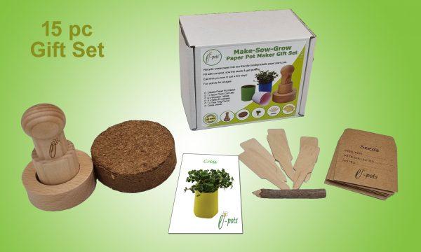 Make Sow Grow Paper Pot Maker Gift Set Contents