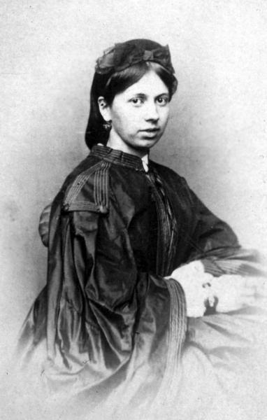 Софья Андреевна Берс во времена ее помолвки со Львом Толстым, сентябрь 1862 года