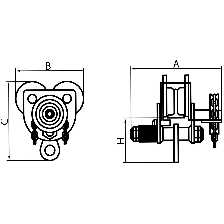 Geared Beam Trolleys